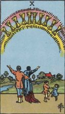 Waite-Smith Ten of Cups