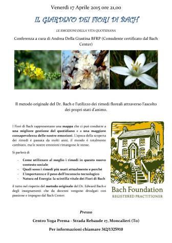 Conferenza Fiori di Bach 17 aprile 2015