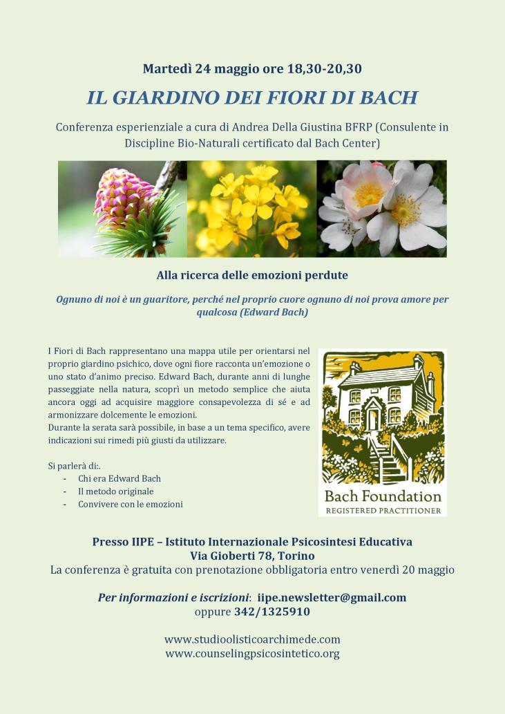 Il Giardino Dei Fiori Di Bach - IIPE
