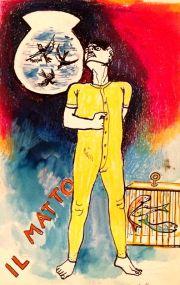 1971, Guttuso Renato, tarocchi, il matto, x mail-2