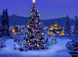 Christmas-snow-scene-at-night